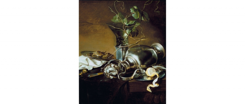 Jan davidsz de heem - still life with a silver pitcher