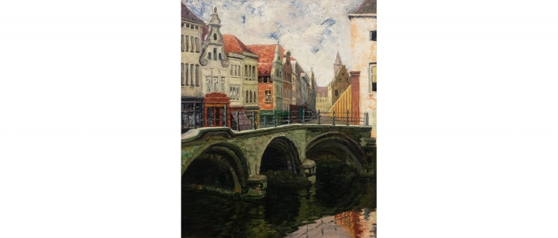 Dyle bridge at mechelen, belgium slideshow