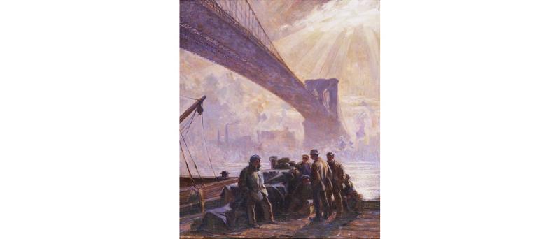 Lewis, dockworks under the brooklyn bridge, 2019-07