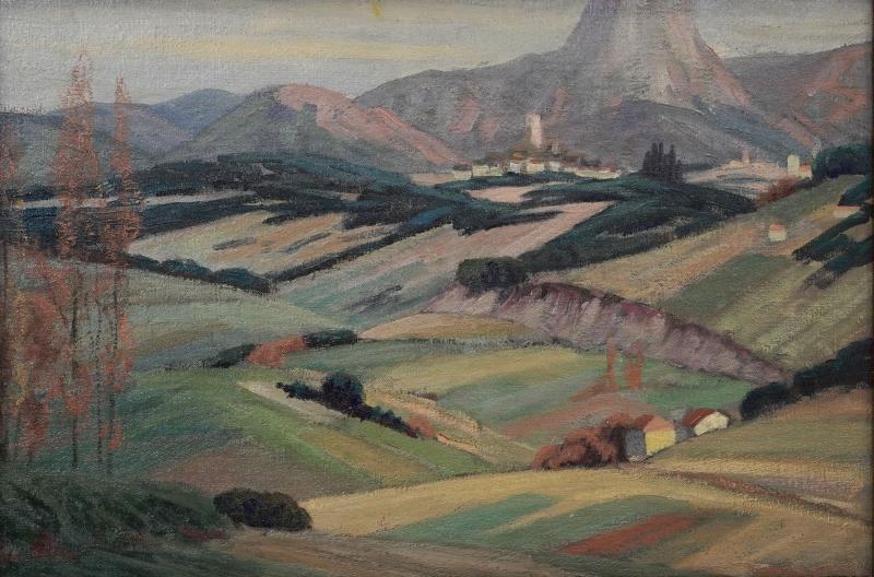 Louis dewis, var landscape study, 1925