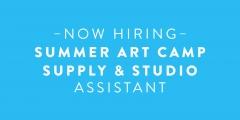 Summer art camp supply  studio assistant 1