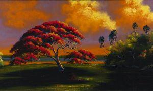Mary Ann Carroll Untitled [Royal poinciana at dusk]
